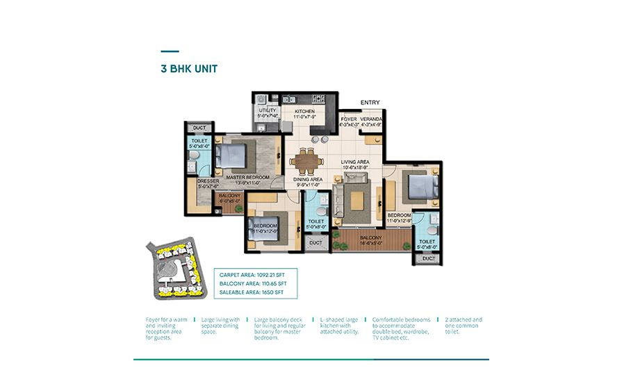 Shriram Blue Floor Plan